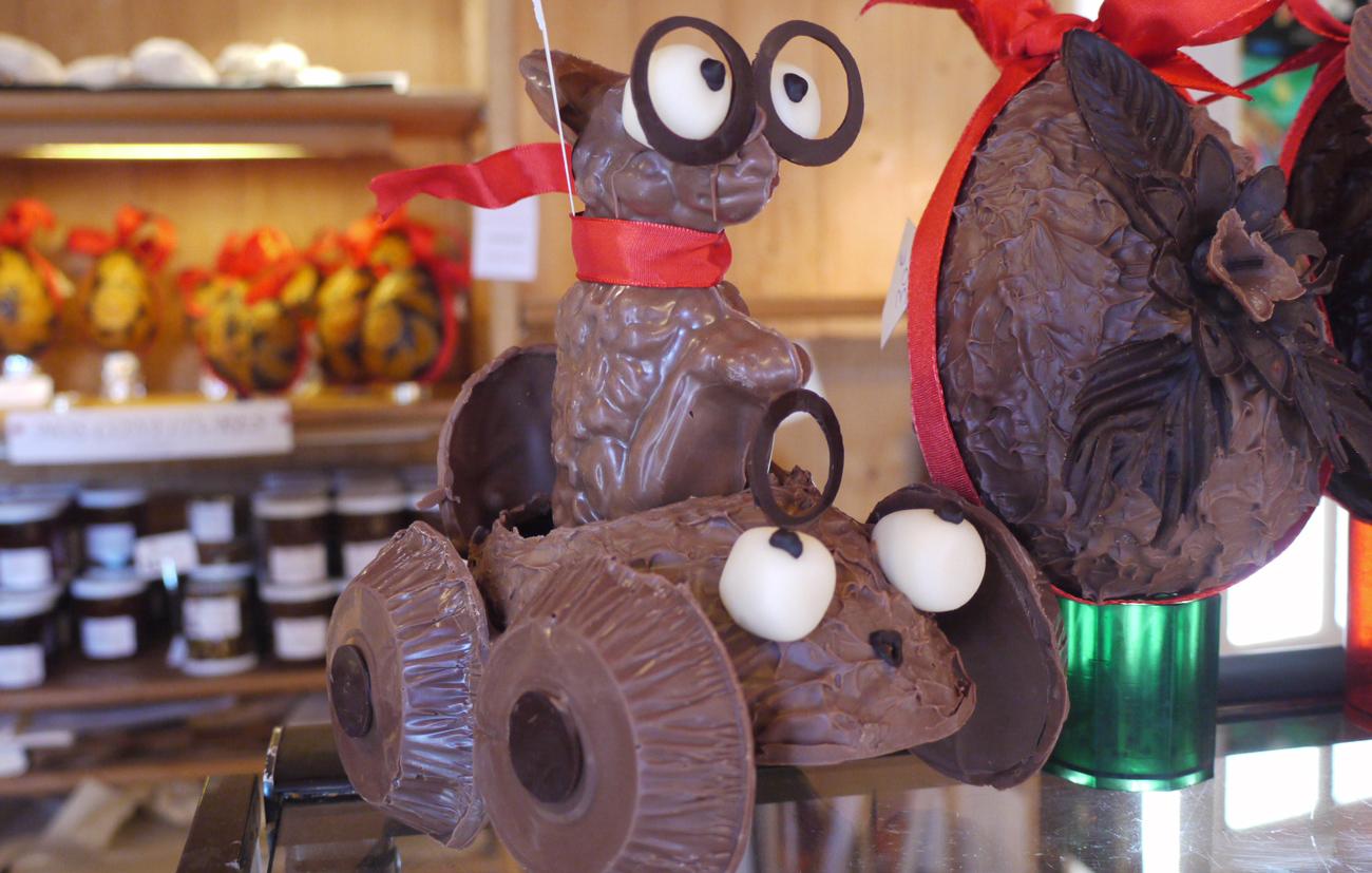 personnage chocolat pâques
