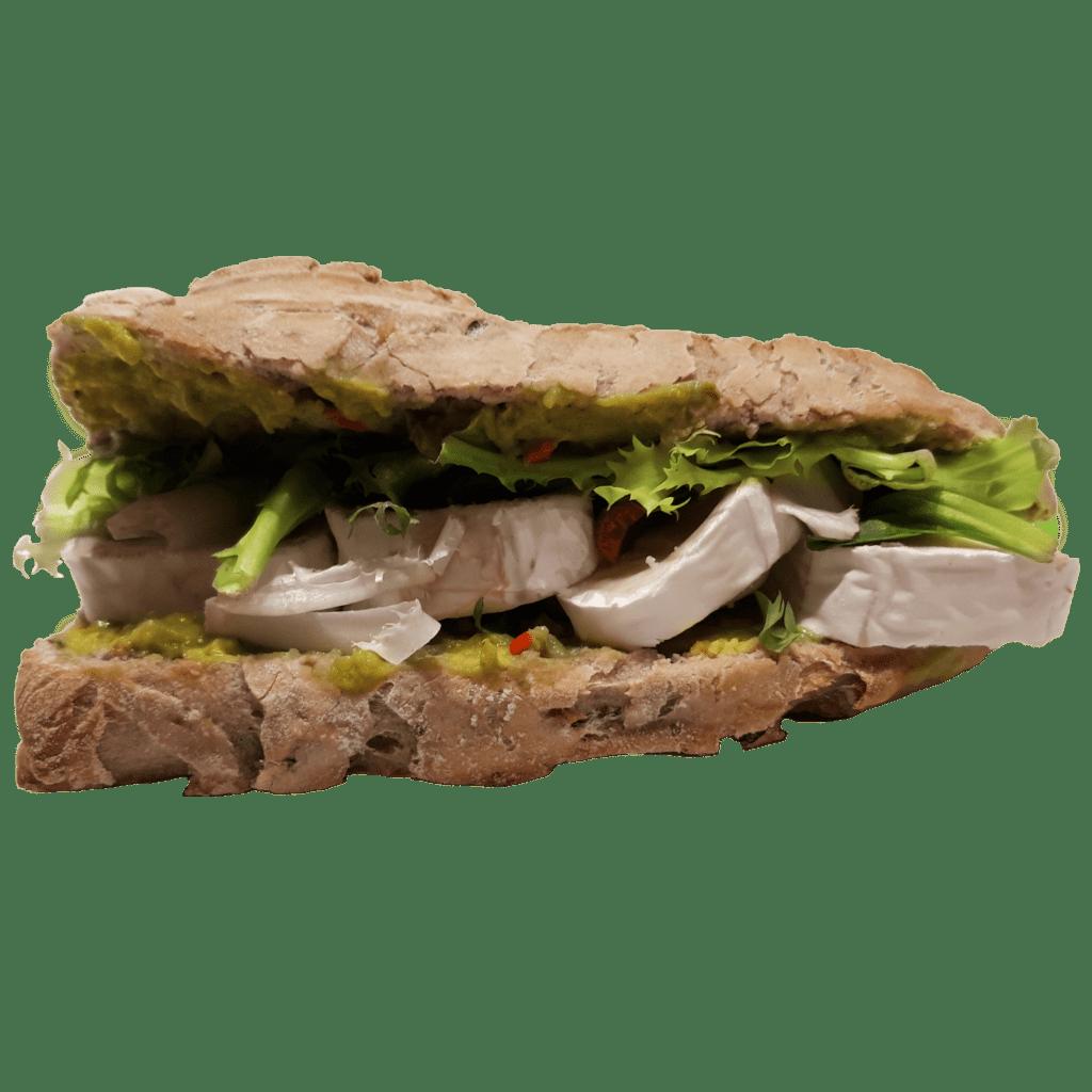 sandwich chèvre guacamole